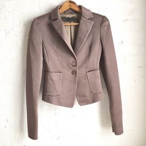 Patrizia Pepe taupe brown shiny blazer size EU 42